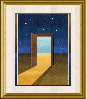 cross stitch pattern Door to Dreams