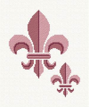 cross stitch pattern Fleur de Lis