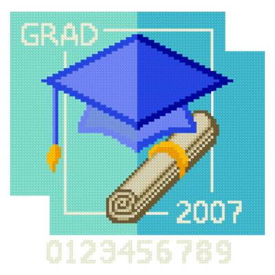 cross stitch pattern Grad 2007