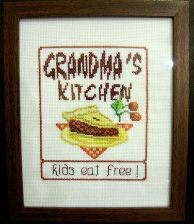 cross stitch pattern Grandma's Kitchen