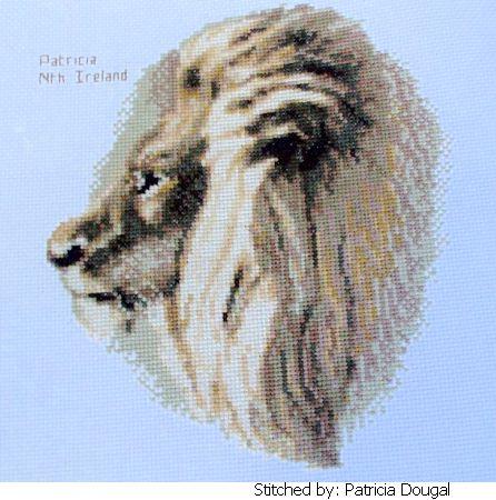 cross stitch pattern Lion