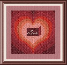 cross stitch pattern Love Heart