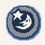 cross stitch pattern Moon and Star