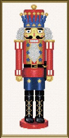 cross stitch pattern Nutcracker King