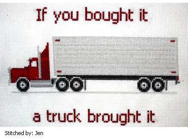 cross stitch pattern Semi Truck