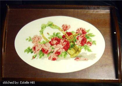 cross stitch pattern Basket of Roses