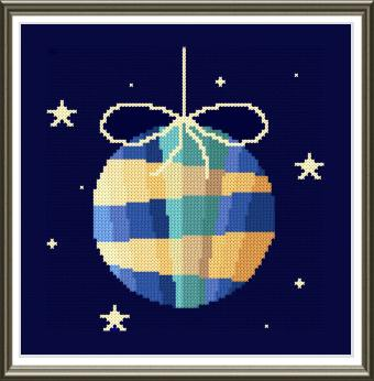 cross stitch pattern Christmas Ball