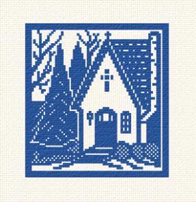 cross stitch pattern Chapel