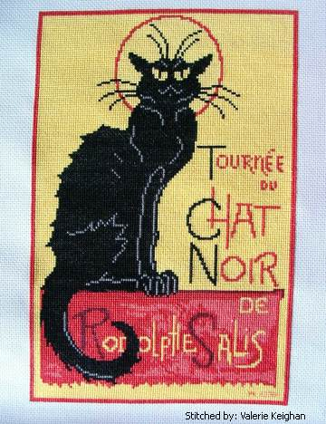 cross stitch pattern Le Chat Noir