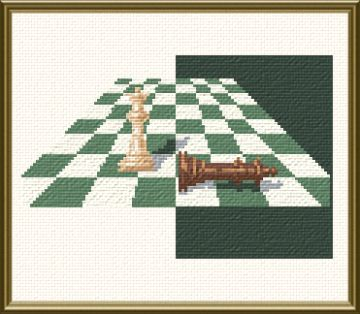 cross stitch pattern Chess