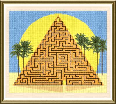 cross stitch pattern Great Pyramid Maze