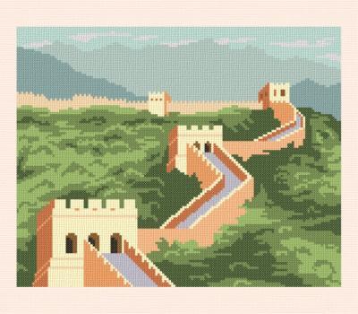 cross stitch pattern Great Wall of China