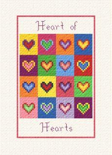 cross stitch pattern Heart of Hearts