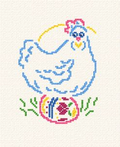 cross stitch pattern Pastel Hen