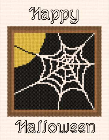 cross stitch pattern Happy Halloween