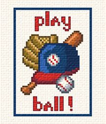 cross stitch pattern Play Ball