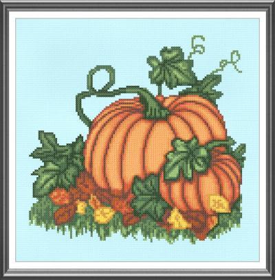 cross stitch pattern Pumpkins