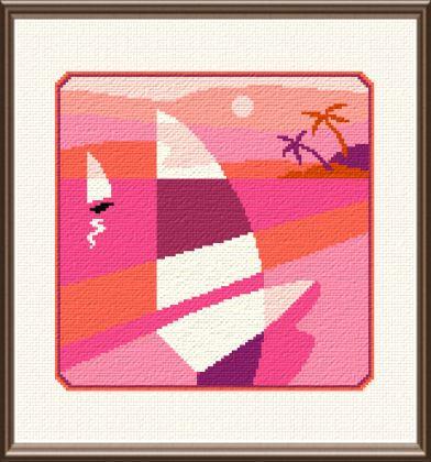 cross stitch pattern Sailing