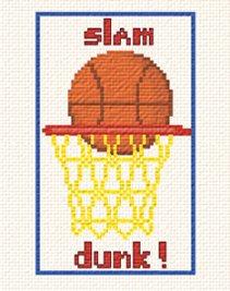 cross stitch pattern Slam Dunk
