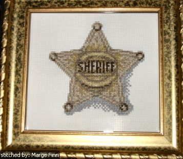 cross stitch pattern Sheriff's Badge