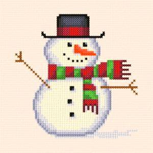 cross stitch pattern Snowman - small