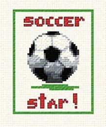 cross stitch pattern Soccer Star