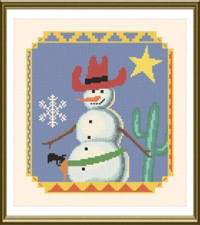 cross stitch pattern Southwest Snowman