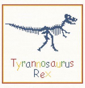 cross stitch pattern Tyrannosaurus Rex