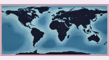 cross stitch pattern World Map