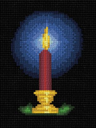 cross stitch pattern Christmas Candle
