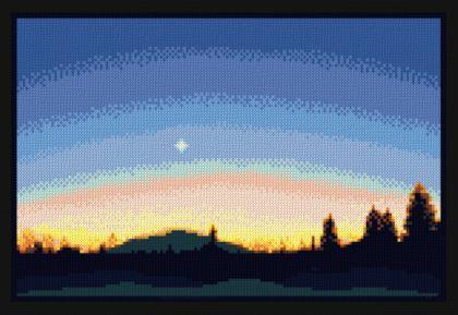 cross stitch pattern Evening Star