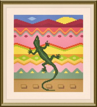 cross stitch pattern Gecko