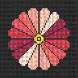 cross stitch pattern Japanese style flower