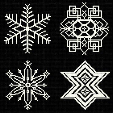 cross stitch pattern Snowflakes 7