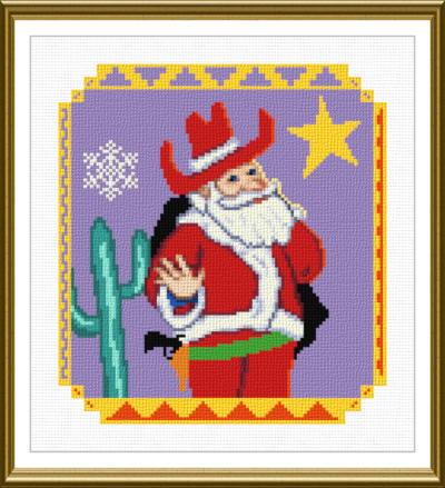 cross stitch pattern Southwest Santa
