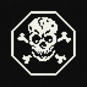 cross stitch pattern Skull