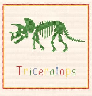 cross stitch pattern Triceratops
