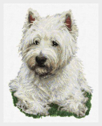 cross stitch pattern West Highland Terrier
