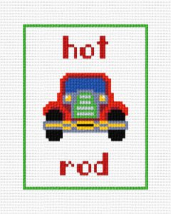 cross stitch pattern Hot Rod