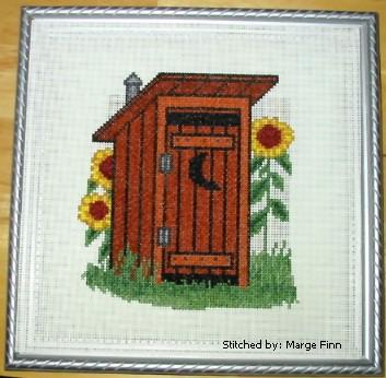 cross stitch pattern Outhouse