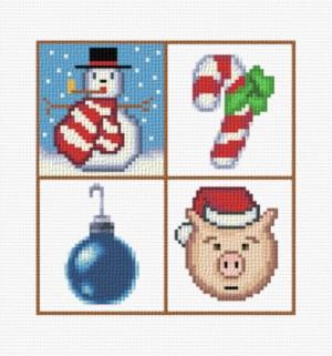 cross stitch pattern Small Christmas designs 6