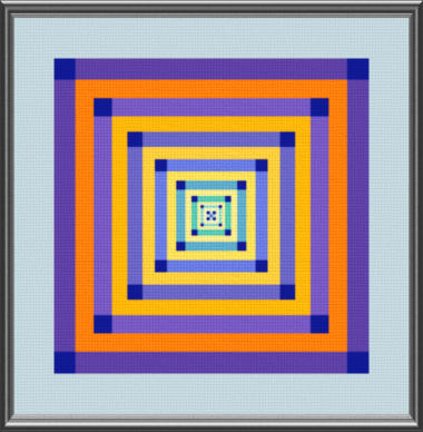 cross stitch pattern Geometric