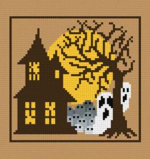 cross stitch pattern House ghosts