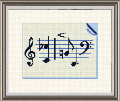cross stitch pattern Music Page