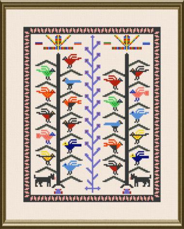 cross stitch pattern Native Art blanket
