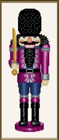 cross stitch pattern Nutcracker Colonel