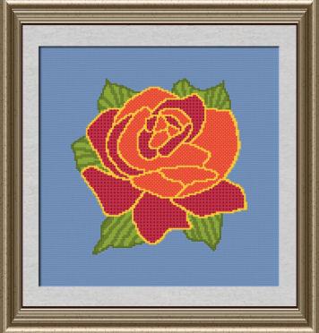 cross stitch pattern Native Rose
