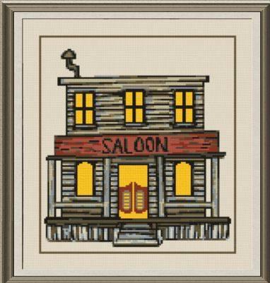 cross stitch pattern Saloon