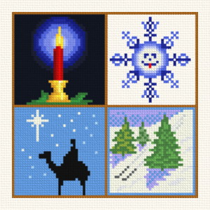 cross stitch pattern Small Christmas designs 8
