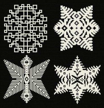cross stitch pattern Snowflakes 9